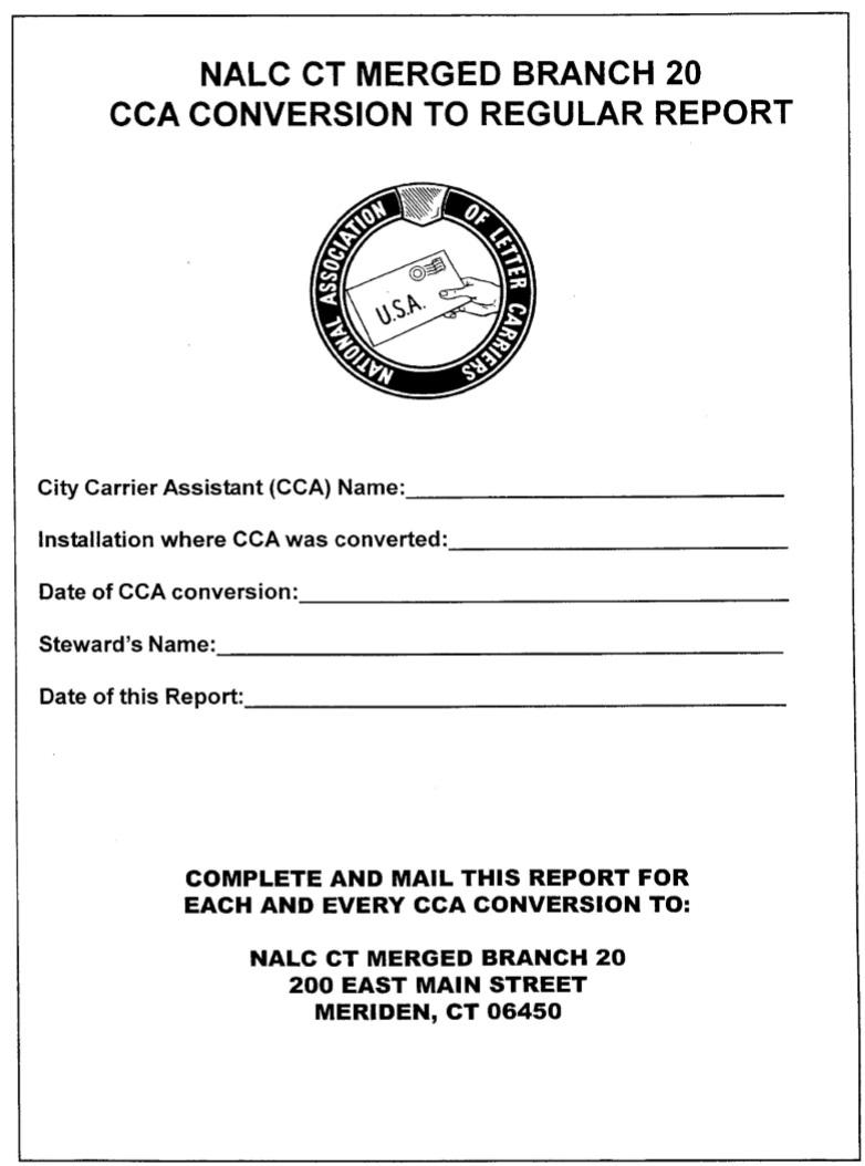 CCA Conversion To Regular Report (PDF)